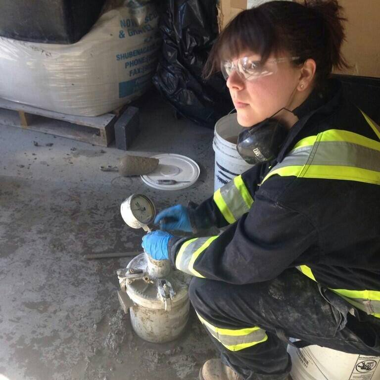 CarbonCure's Director of Technical Services, Diane Praught, has extensive experience in concrete quality control.