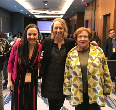 Christie Gamble (center) alongside Sara Neff, Senior Vice President, Sustainability, Kilroy Realties (left), and Kate Diamond, Principal, HDR Inc. (right).