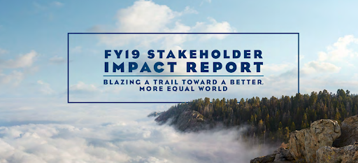 Each year, Salesforce publishes its Stakeholder Impact Report so that key stakeholders can stay informed and track its progress. Source: Salesforce