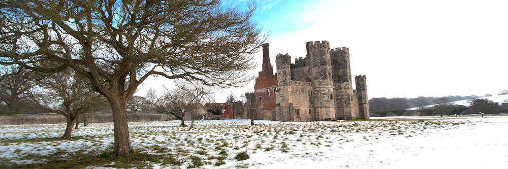 Titchfield Abbey in the snow