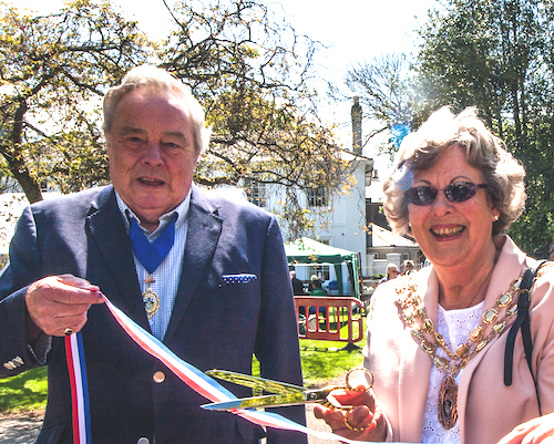 Connie and Geoff opening St Peter's Church Fete in 2016