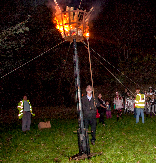 Lighting the Titchfield Beacon