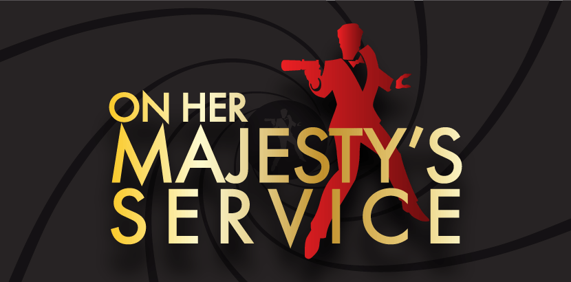 On Her Majesty's Service Murder Mystery Logo