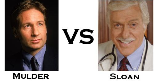 Fox Mulder vs Dr Mark Sloan