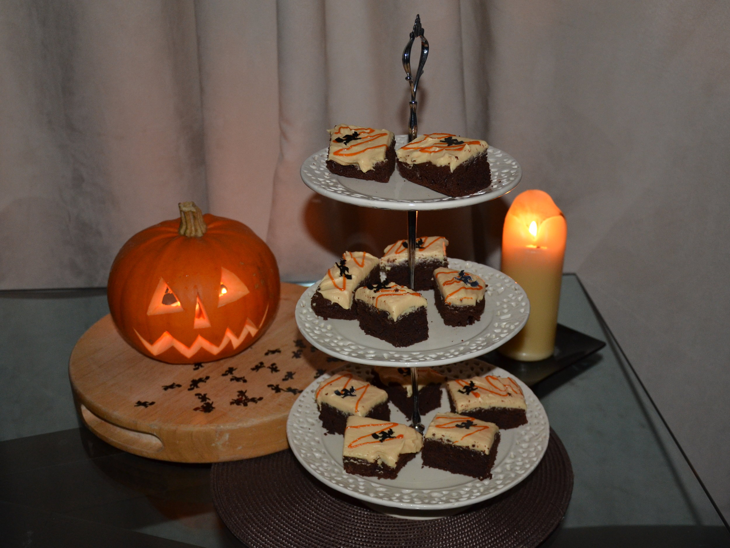 Dark Chocolate and Pumpkin Slice