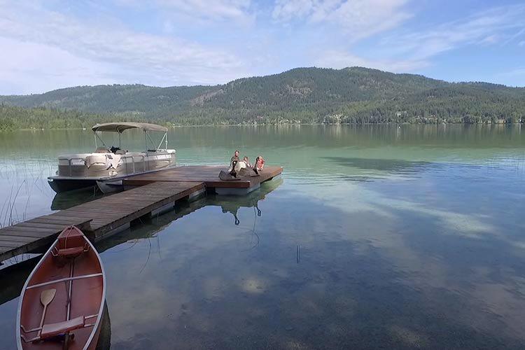Family-on-Dock-with-Boat-Canoe-White-Lake-web.jpg