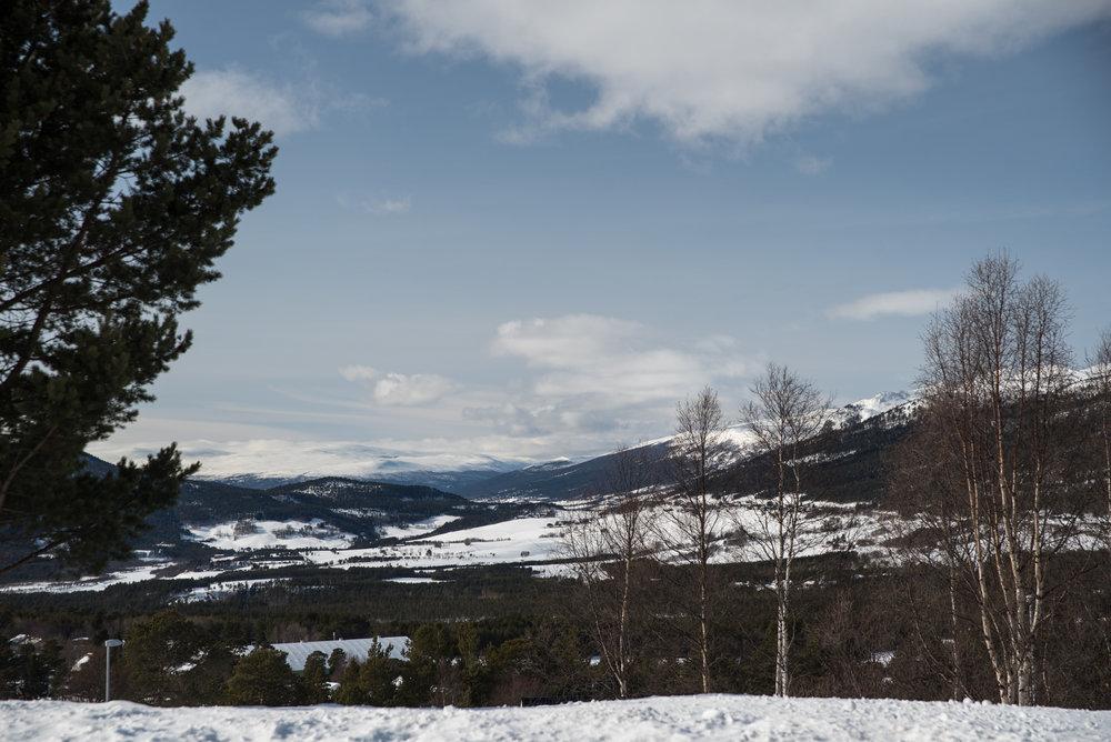 Utsikt fra Dombås gjestehus.