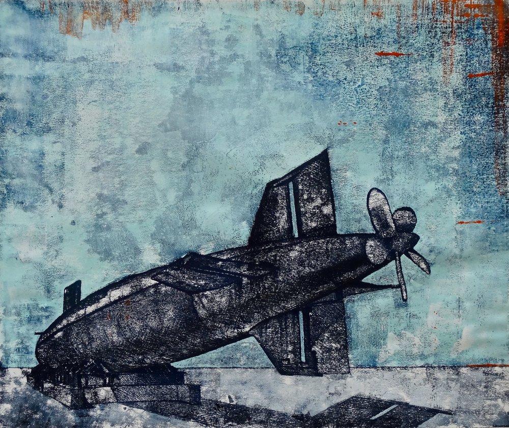 Sub-Base 1. Georgina Bown. Monoprint. 60x50cm..jpg