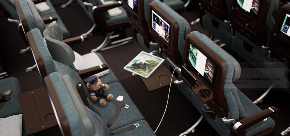 Aircraft interior cousteau VR