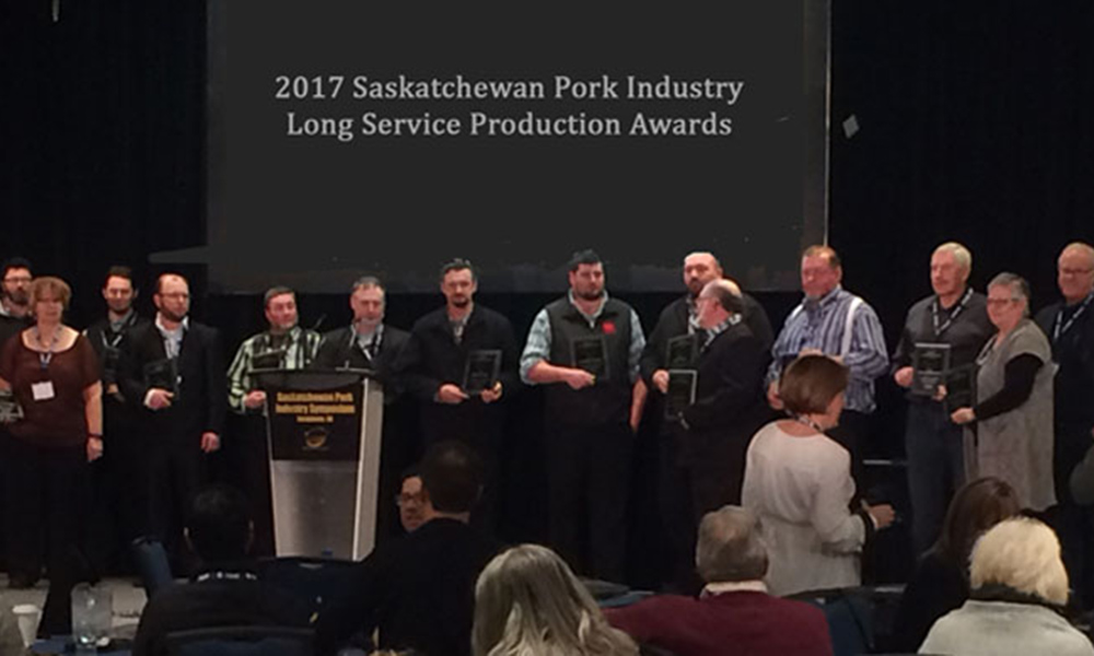 2017 Saskatchewan Pork industry Long Service Awards