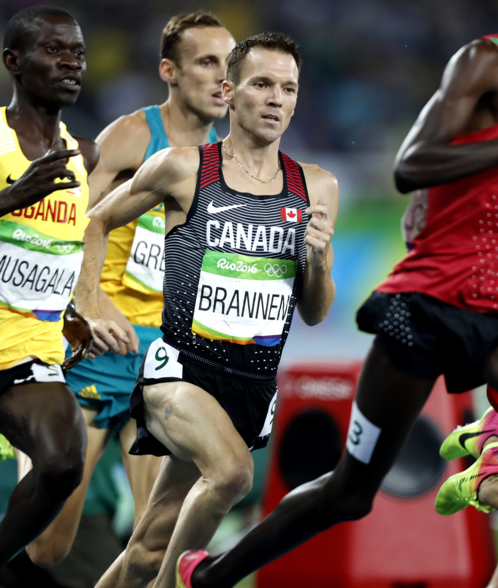 Our Elite Athlete Coordinator and Recruiter, Nate Brannen! - Profile Nathan Brannen is a middle distance runner from Canada, specializing in the 800m, 1500m and mile events. Brannen is a 3-time Olympian in the 1500m for Canada and has been competing professionally for 12 years. Coming out of high-school as a sub 4-minute miler, his career took off while competing at the University of Michigan where he won 4 NCAA Track and Field Titles, 6 big Ten Titles, and was an 11-time All-American in Track and Field (8) and Cross-country (3). Nathan has been one of the top 1500m runners in the World for more than a decade. Nathan is the Canadian record holder in the Indoor (2:16.86) and Outdoor (2:16.51) 1000m, Indoor Mile (3:54.32), and Outdoor 2000m (4:59.52) and is the previous record holder of the Junior 800m (1:46.60) and Indoor 800m (1:47.71). Most recently, Brannen finished 10th at the Rio Olympic Games in the 1500m event.