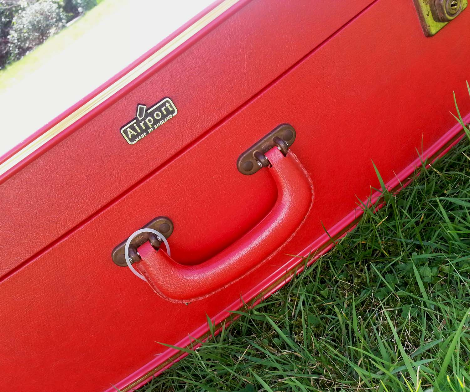 Vintage Red 'Airport' Suitcase