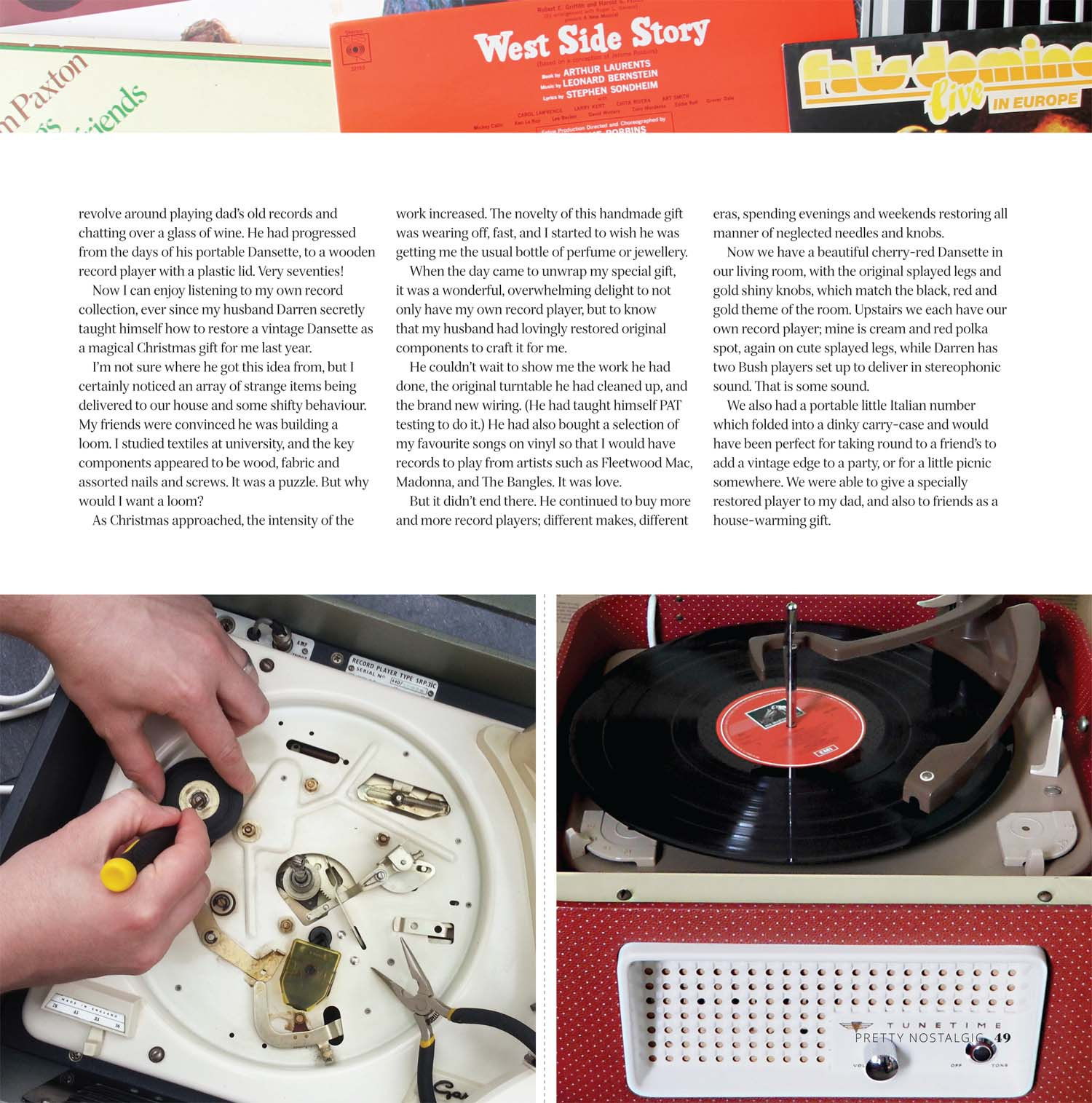 Vintage Record Player Article - Pretty Nostalgic Magazine