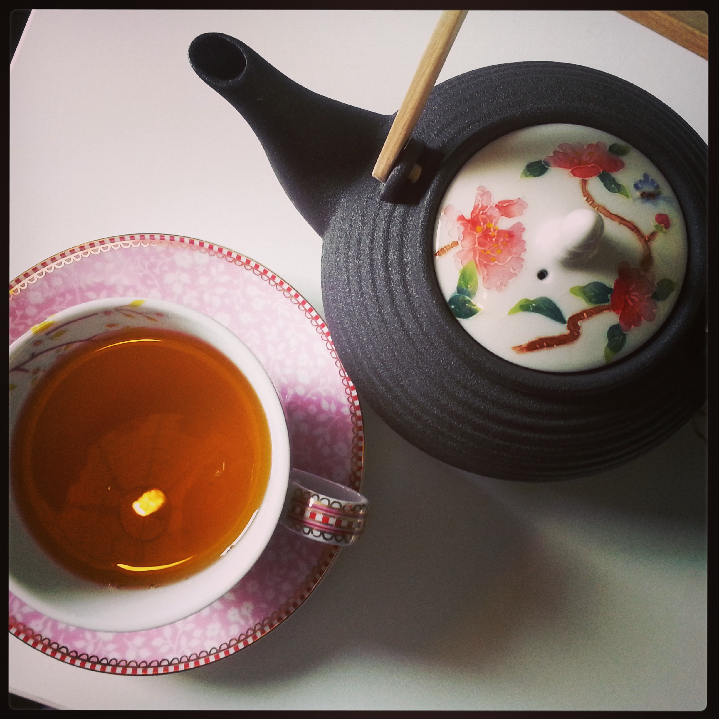 A cup of tea with me!