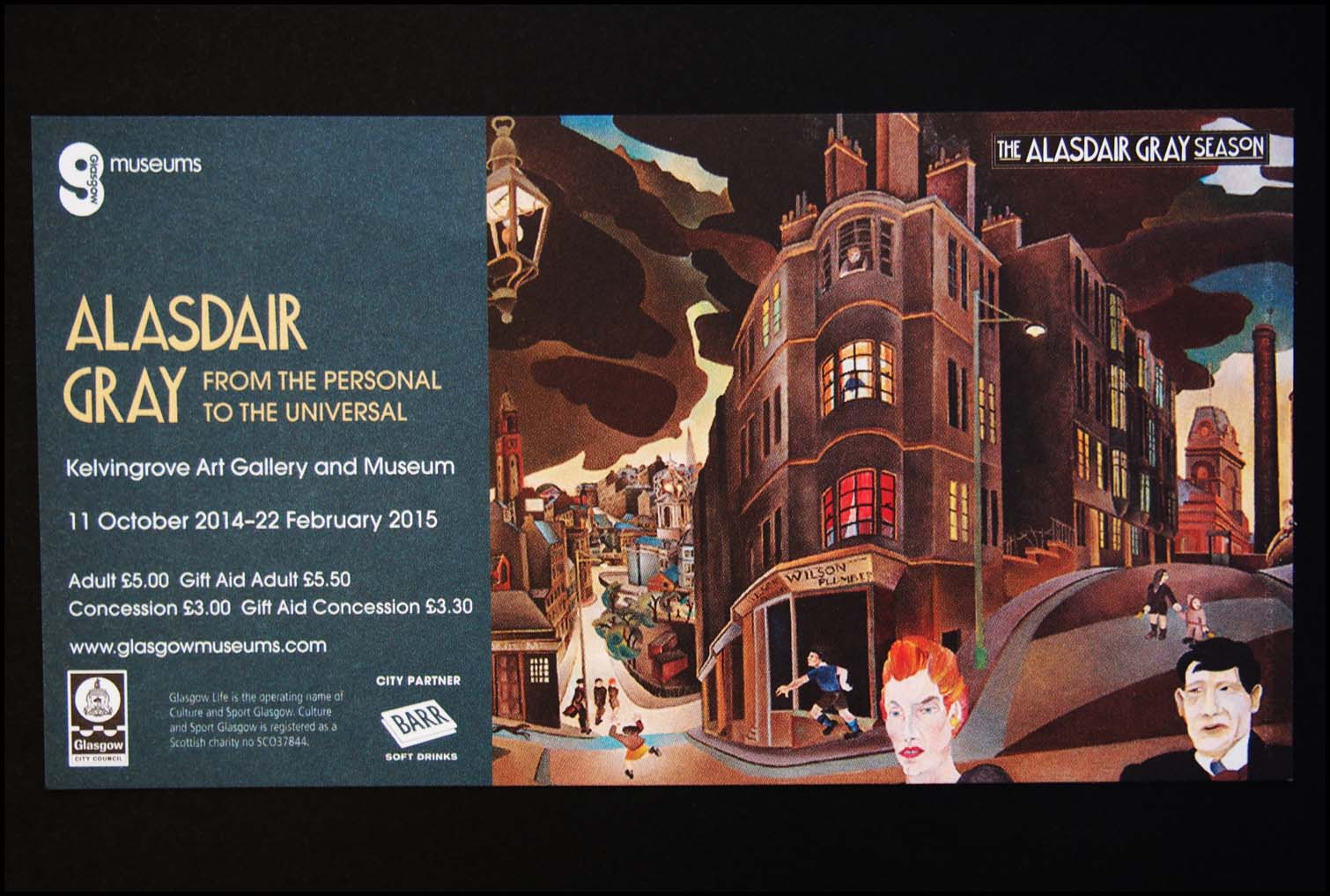 Alasdair Gray Ticket