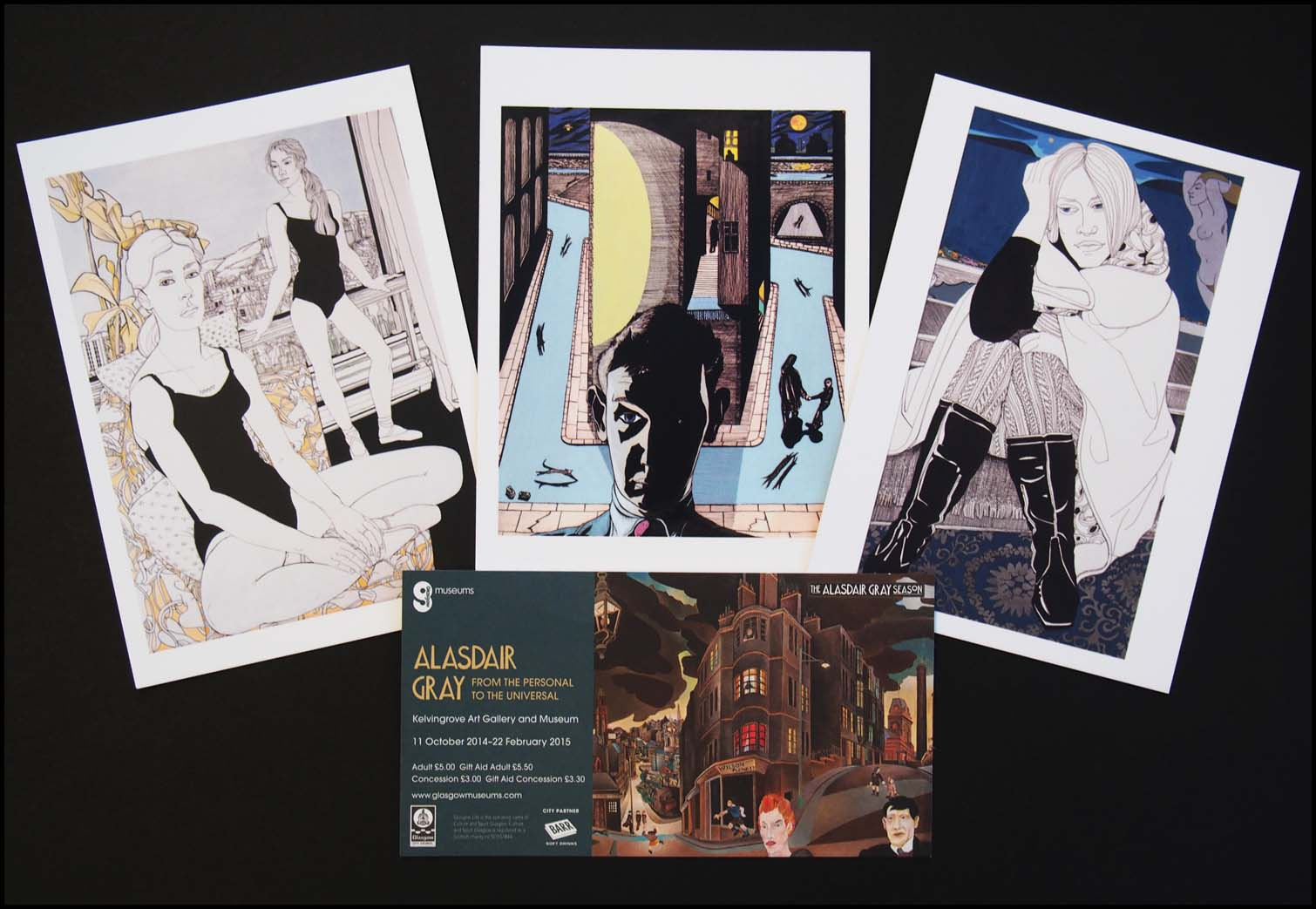 Alasdair Gray Ticket & Postcards