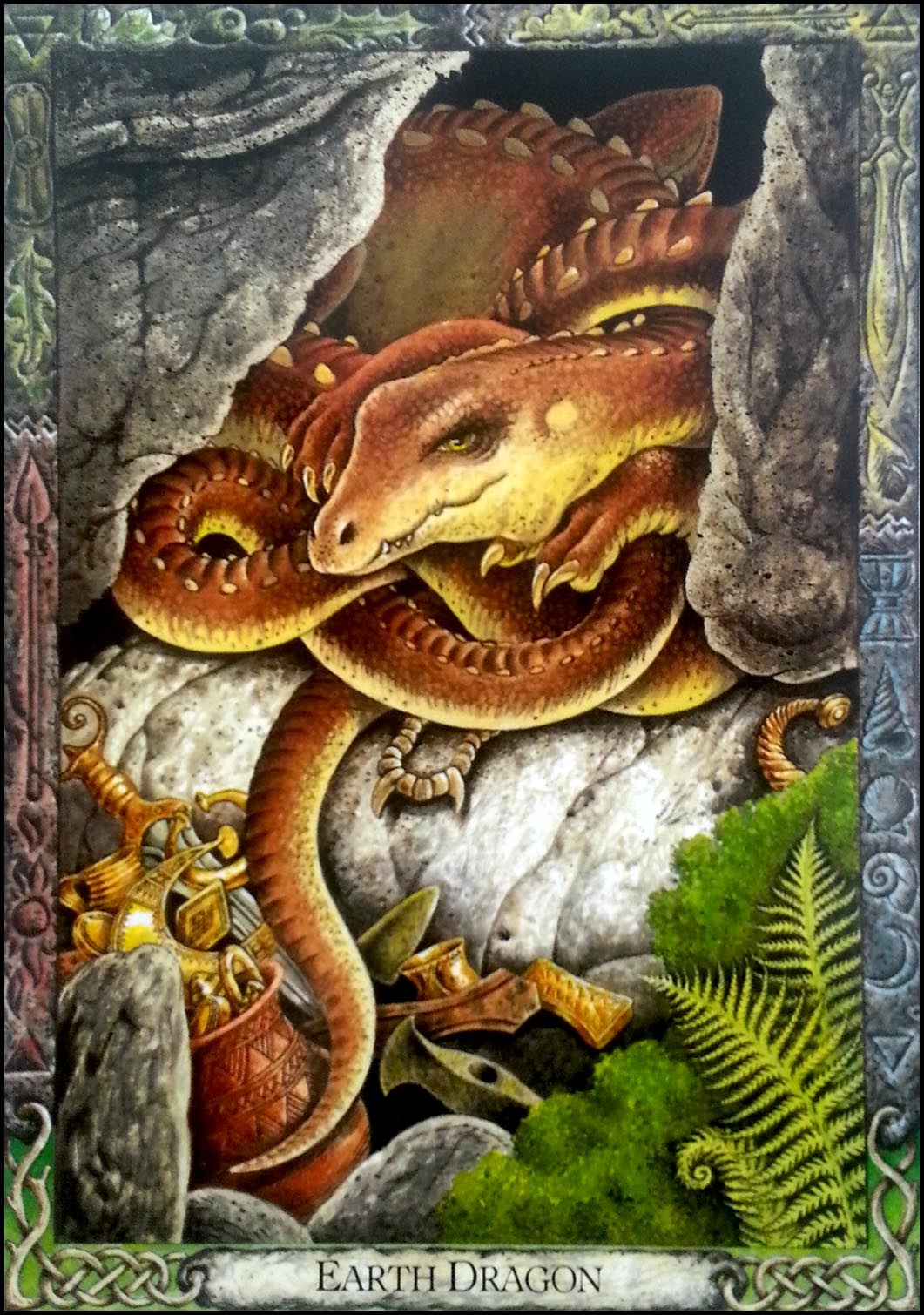 'Earth Dragon' Animal Druid Animal Oracle Card