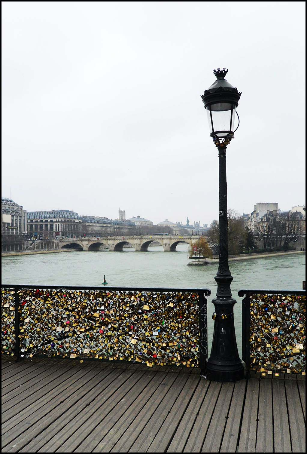 Padlocks at Passerelle des Arts in Paris