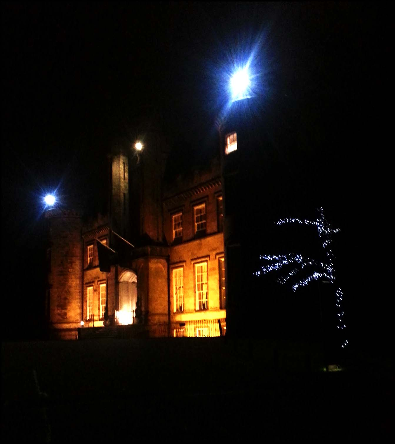 Airth Castle Spa Hotel by night