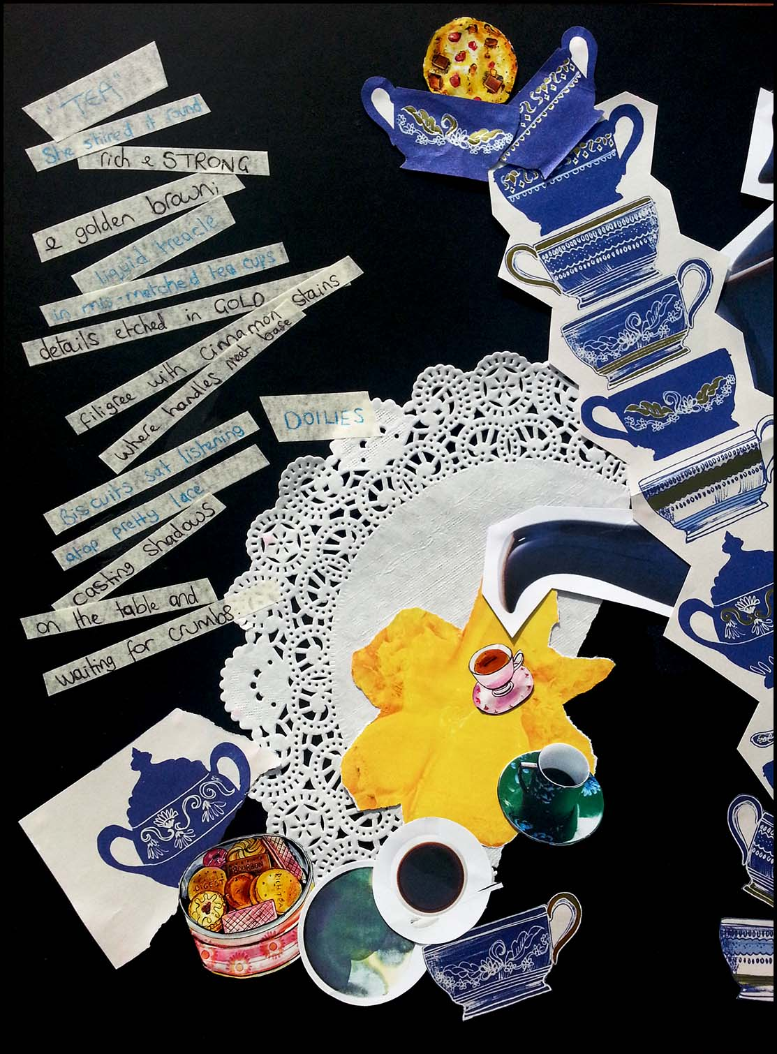 'Time for Tea' poem & collage