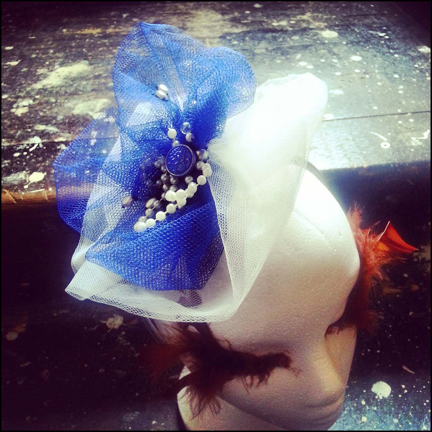 Wedding Hairband in Electric Blue