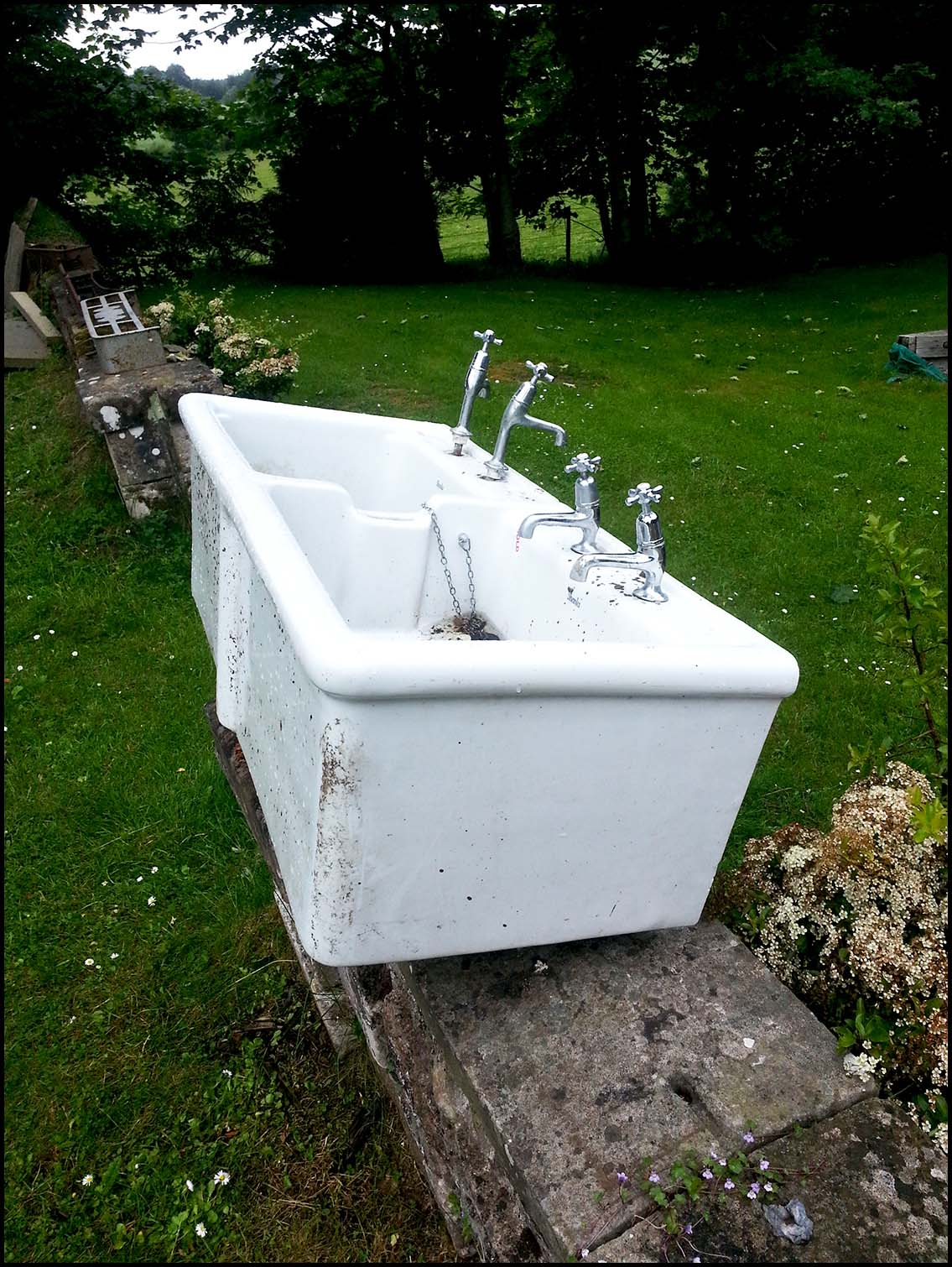 Abandoned Belfast sink