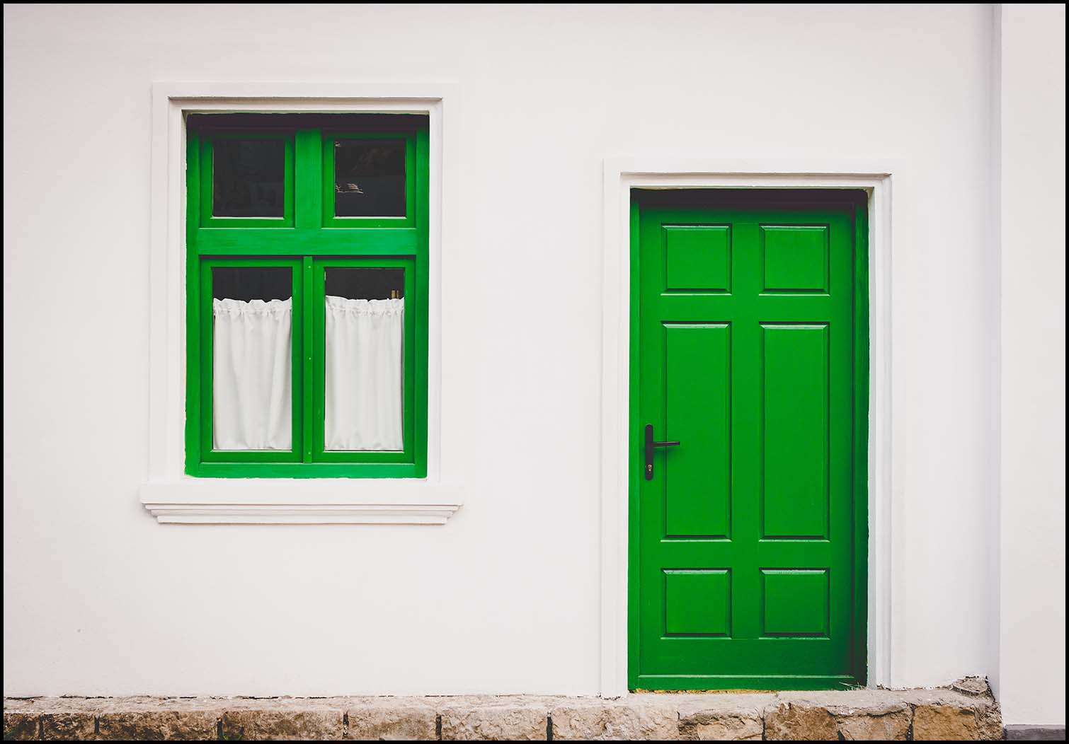 Midweek Poetry: White Walls, Green Door