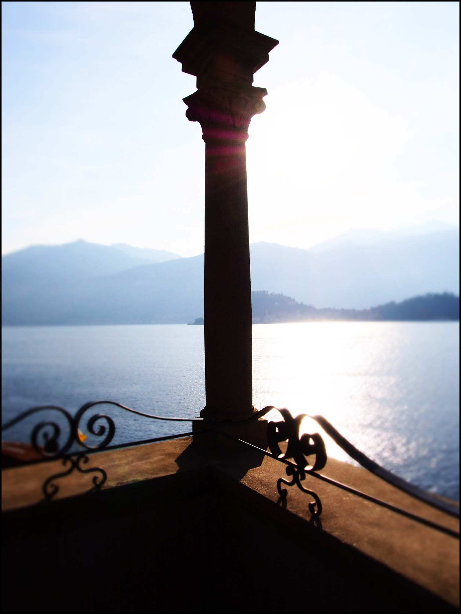View over Lake Como from The Grand Hotel Cadenabbia