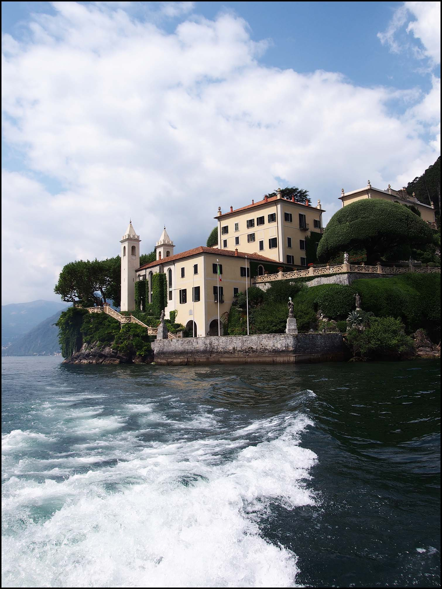 Villa Balbianello viewed from the lake
