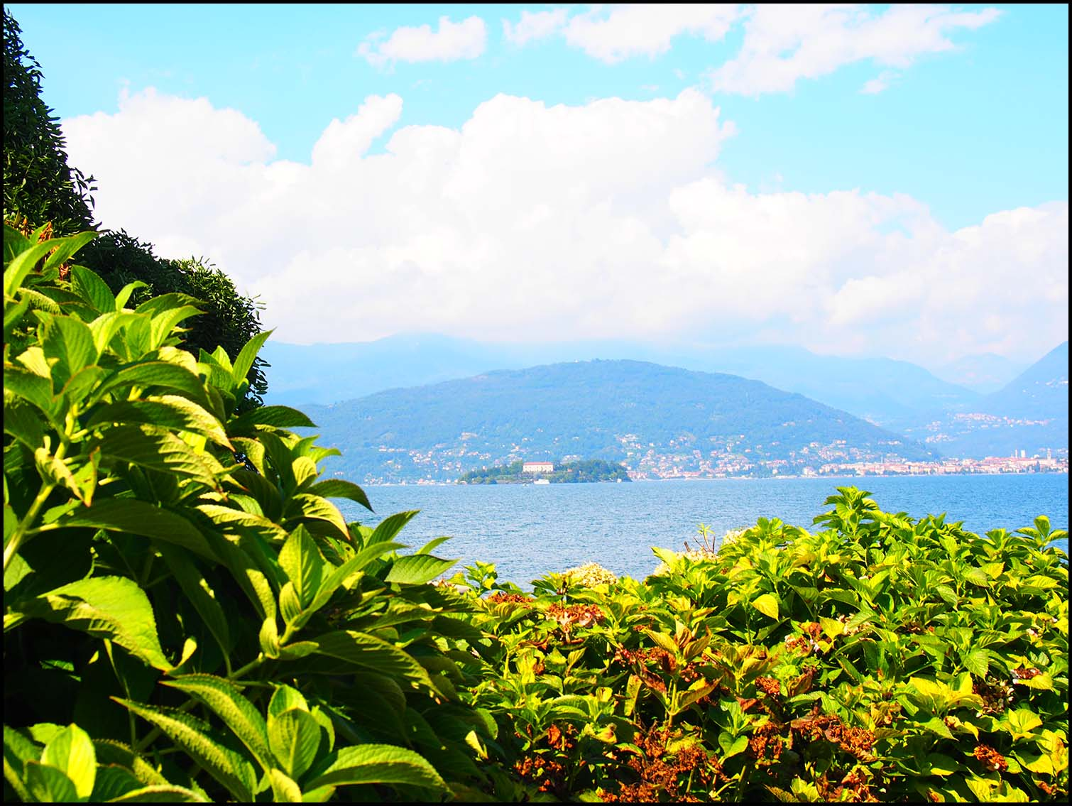 View to Isola Bella, Stresa, Italy