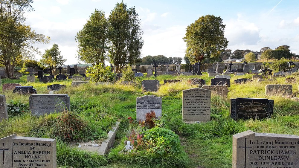 Graveyard where Sylvia Plath is buried