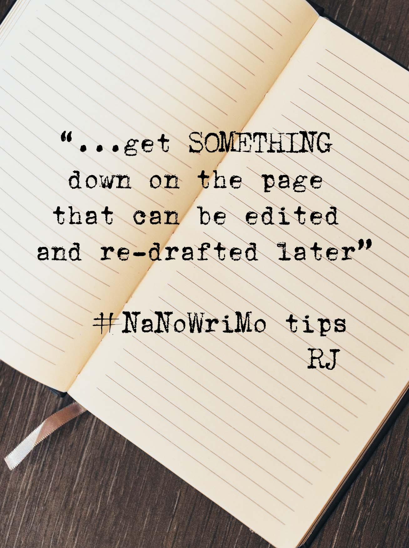 NaNoWriMo Tips - Rebecca Johnstone