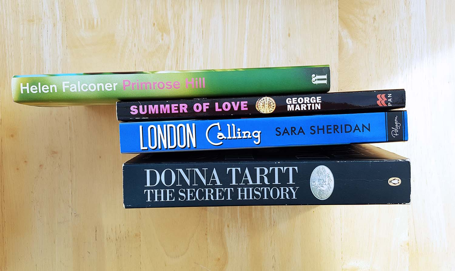 Book Spine Poetry, inspired by Nina Katchadourian
