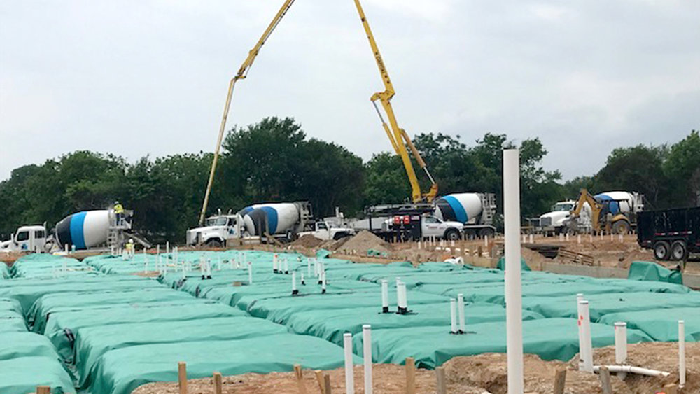 Building 1 slab ready to pour