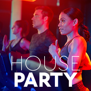 HOUSE PARTYRotate between three of the main studios; Masterclass, Powerhouse and Barre every 20 minutes.'3 concepts in one hour'. -
