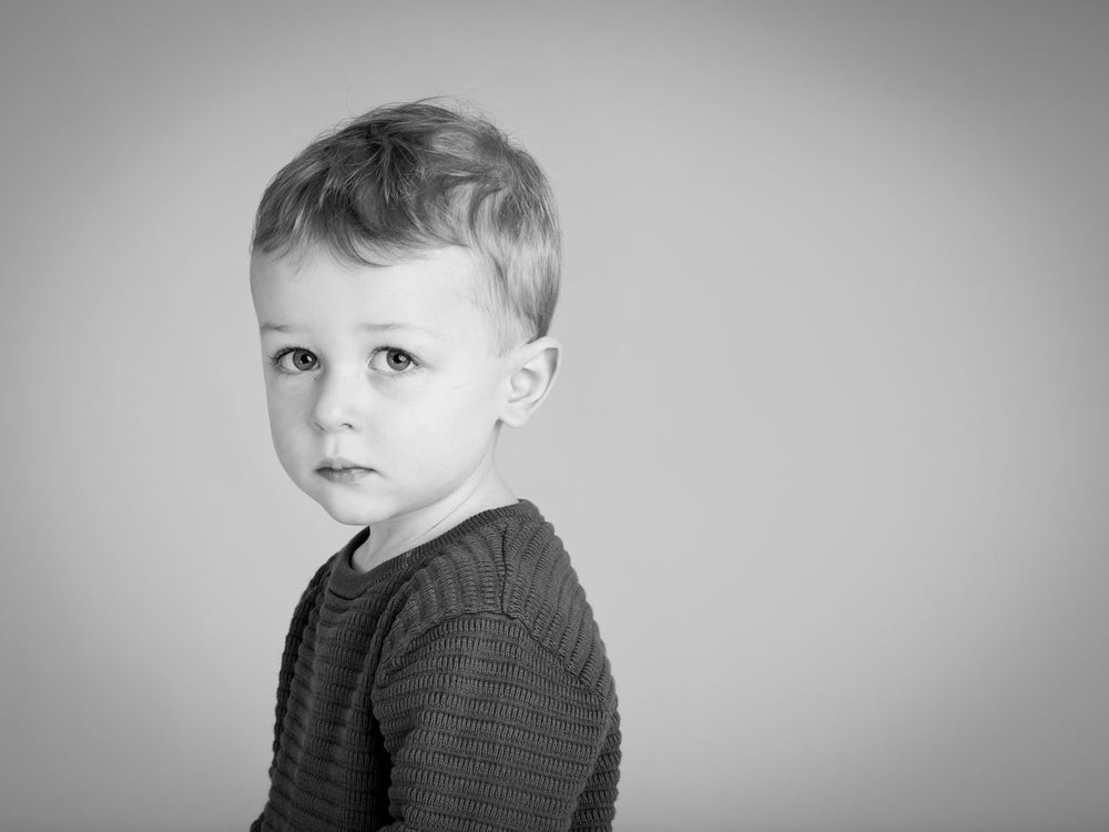 Portrait photography of little boy in London