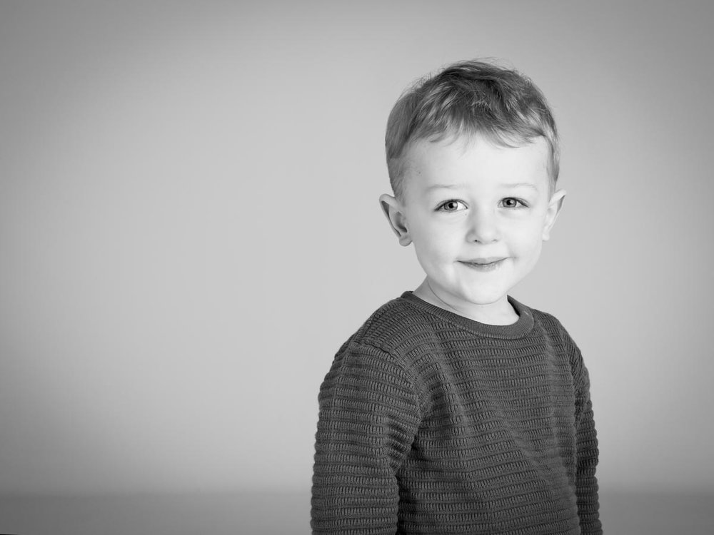 Portrait photography with a smile