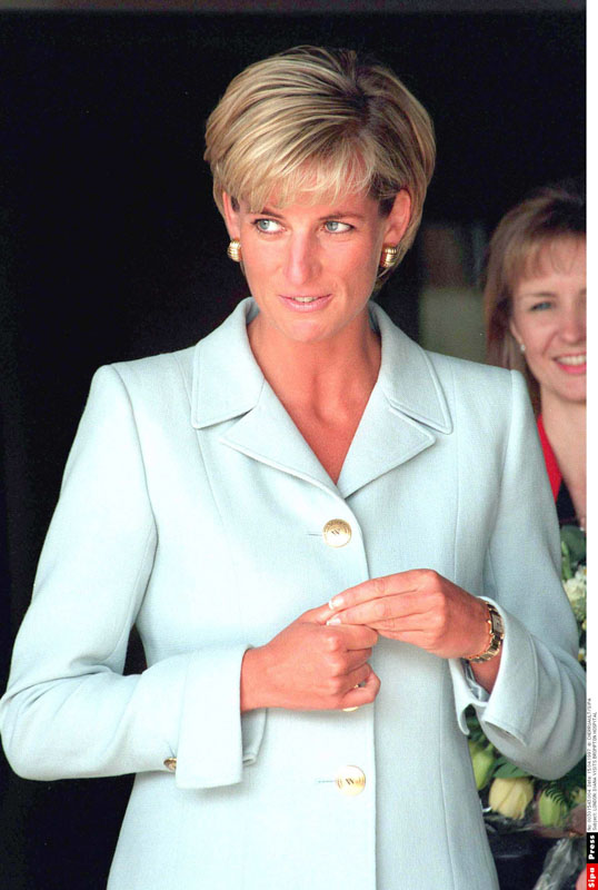 Diana portrait with blue jacket