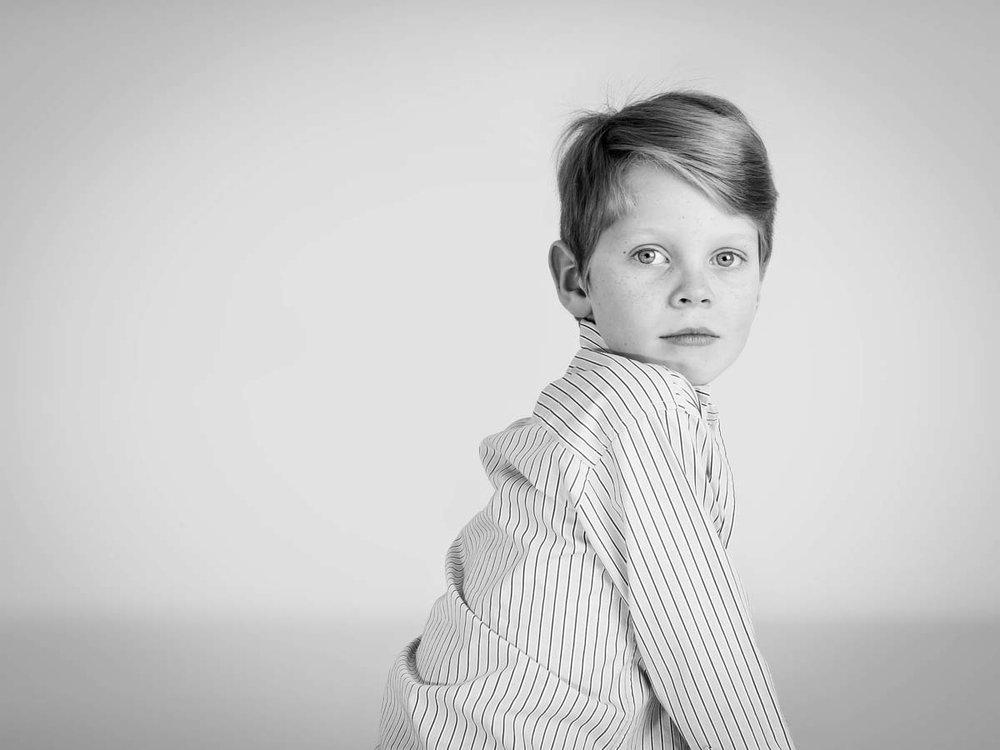 boy in a stripey shirt