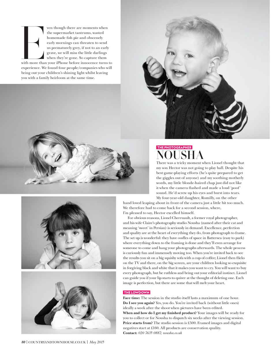 Nousha Photography Child portrait studio