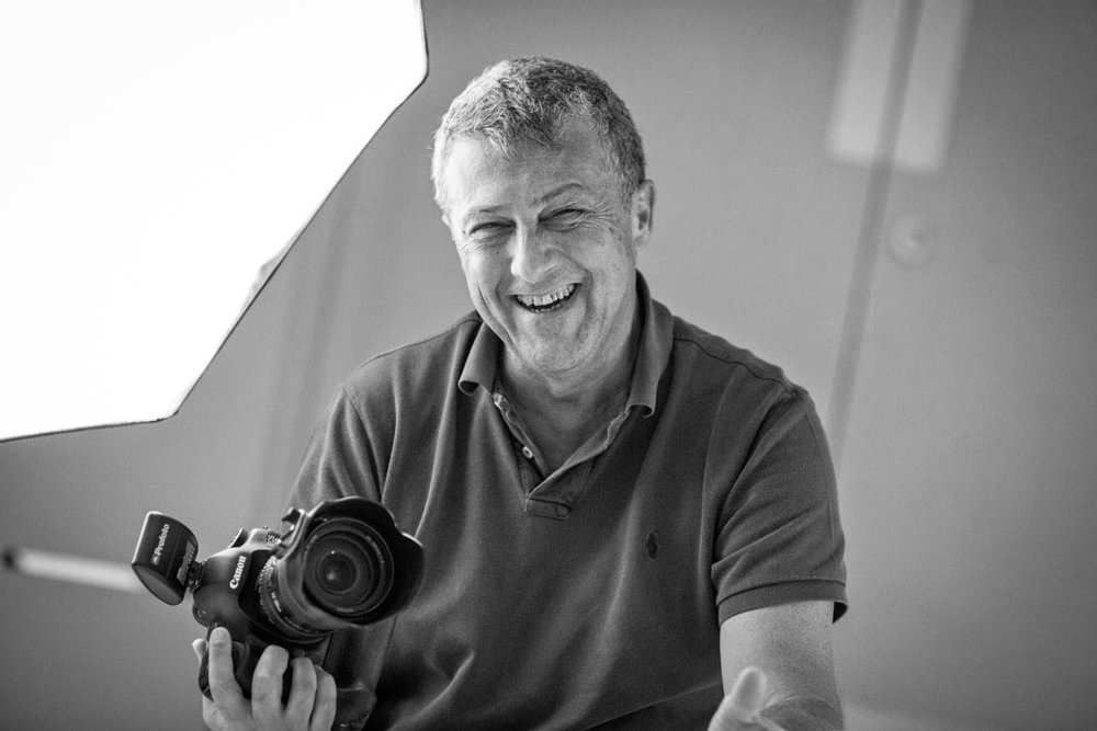 Photographer laughing