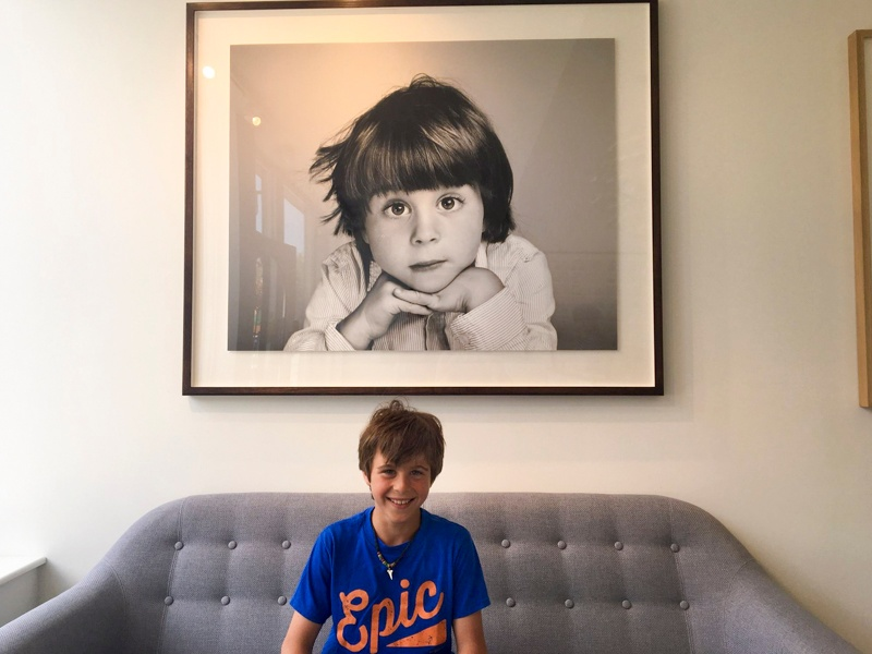 Oliver popped into the studio recently to check out the big photo of him in reception.