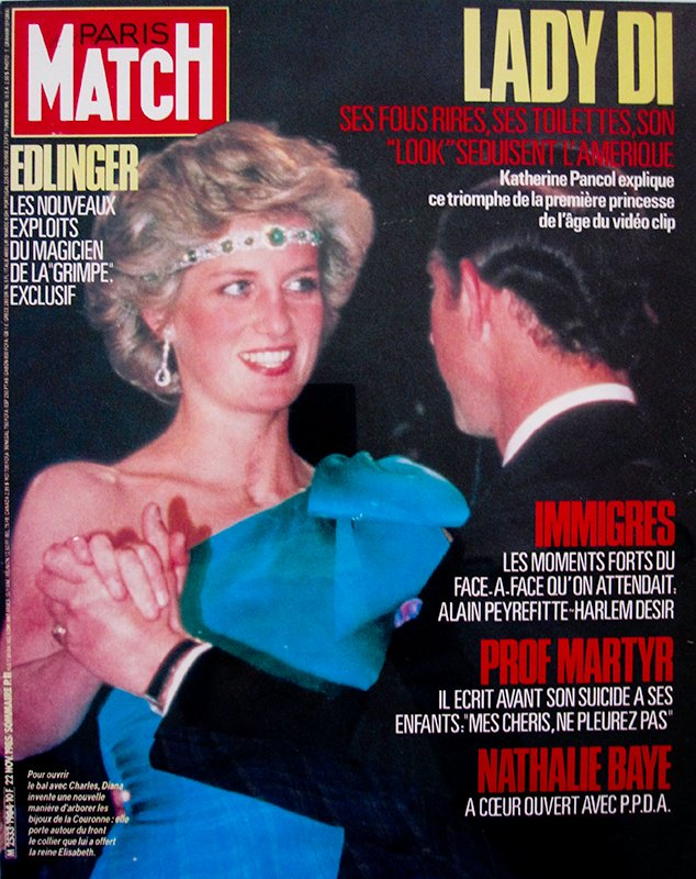Diana, Princess of Wales, Paris Match cover, Nousha Photography