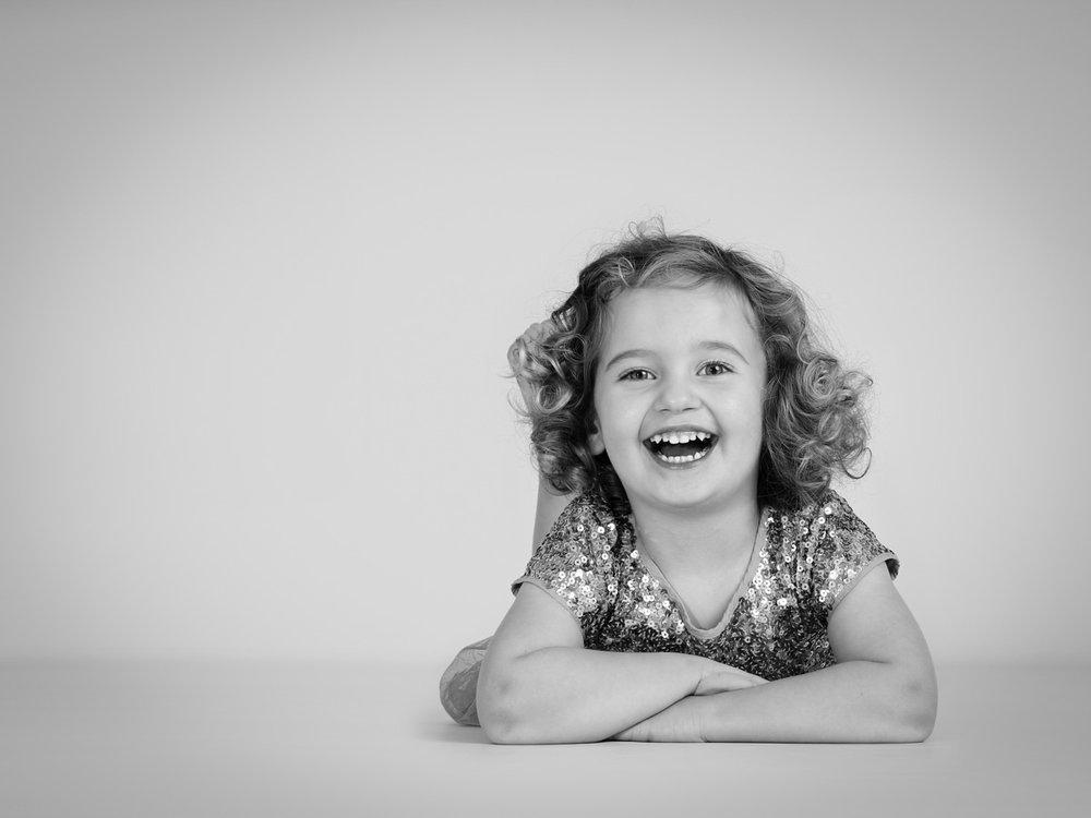 A girl enjoying her family photogaphy