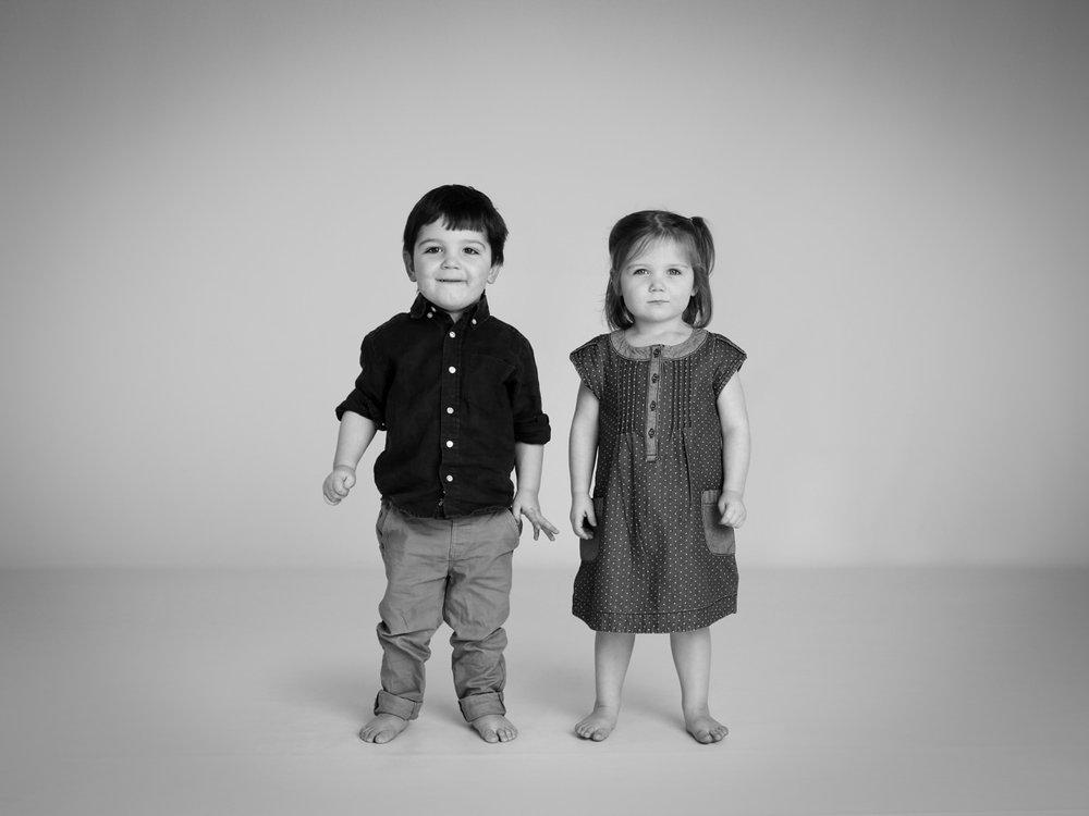 Siblings stood at their photoshoot