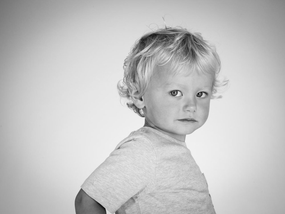 Child photography blond boy