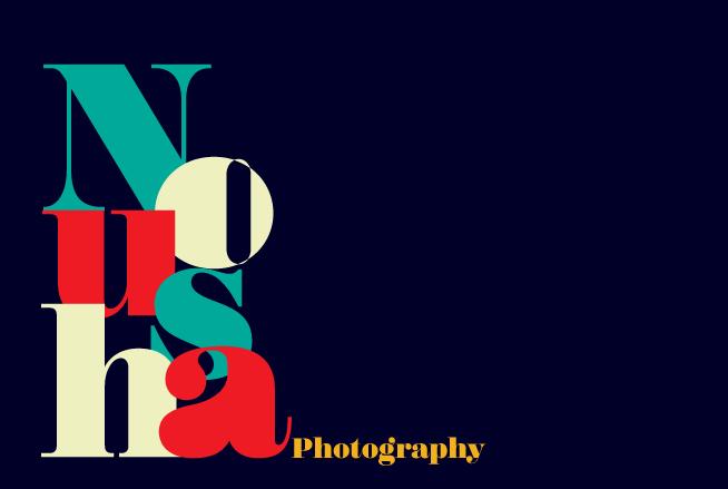 The Nousha Logo - Bauhaus style