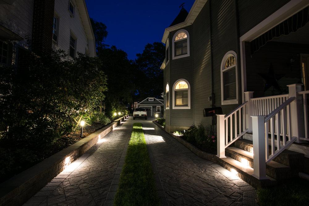 Outdoor lighting design in New Jersey, NJ