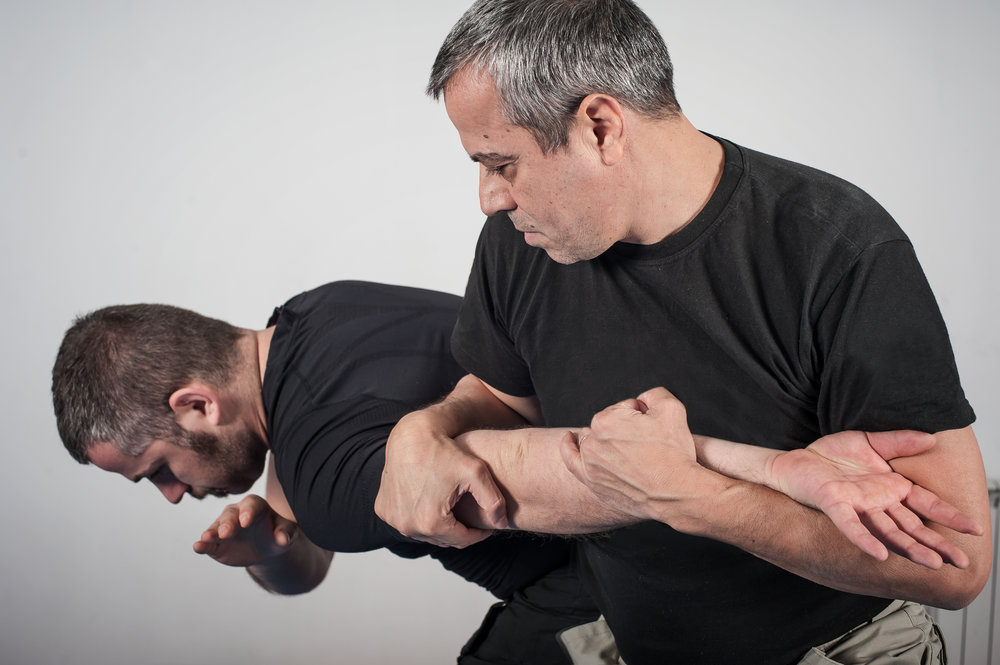 Hand-to-Hand Combatives - During this block of instruction officers learn how to defend themselves against attacks with personal weapons (hands, feet, etc.). In addition to defending themselves in a confrontation, through this program, officers will learn how to transition to the offensive with the use of personal weapons and to safely take effect an arrest.