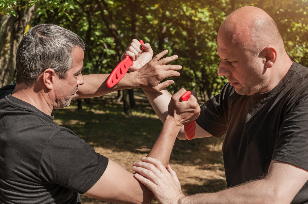 Defense Against Weapons and Takeaways - Weapons are a very real part of combatives against law enforcement. This program teaches officers in defenses and takeaways against several weapons variants (i.e.: gun, knife, stick).